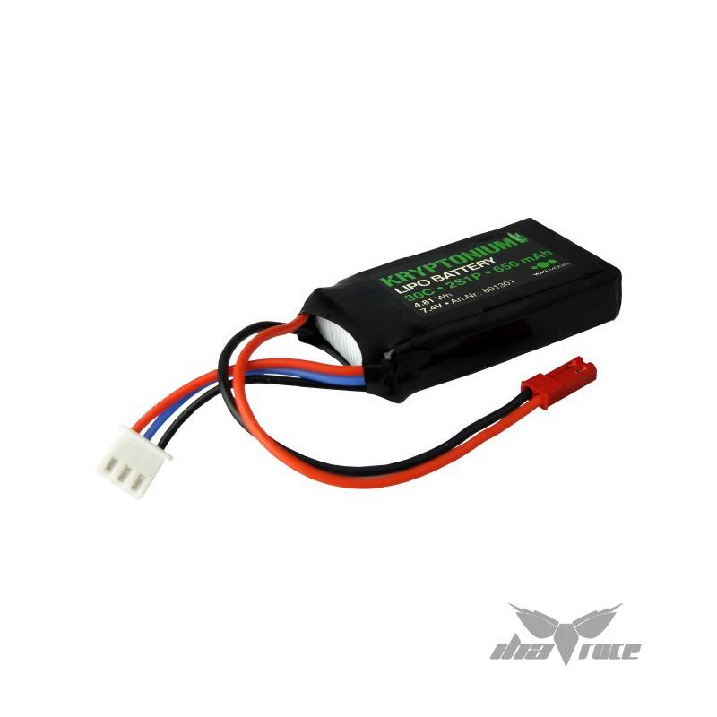 bateria lipo kryptonium 2s 650 mah 30c 3.3