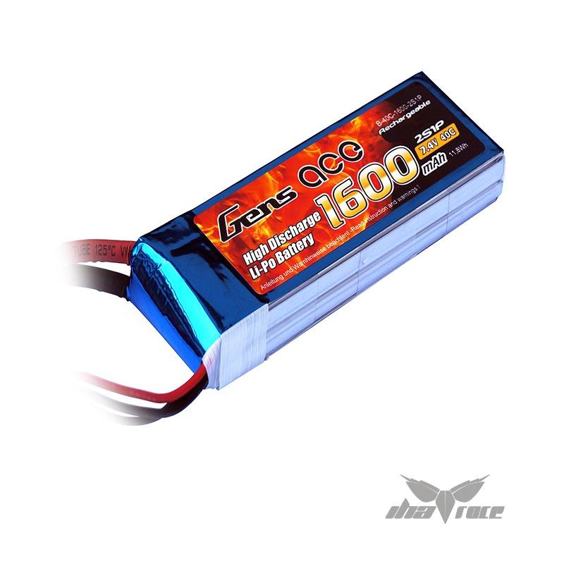 Batería Gens Ace 1600 mAh 7,4V. 40C Oferta de baterías Gen Ace