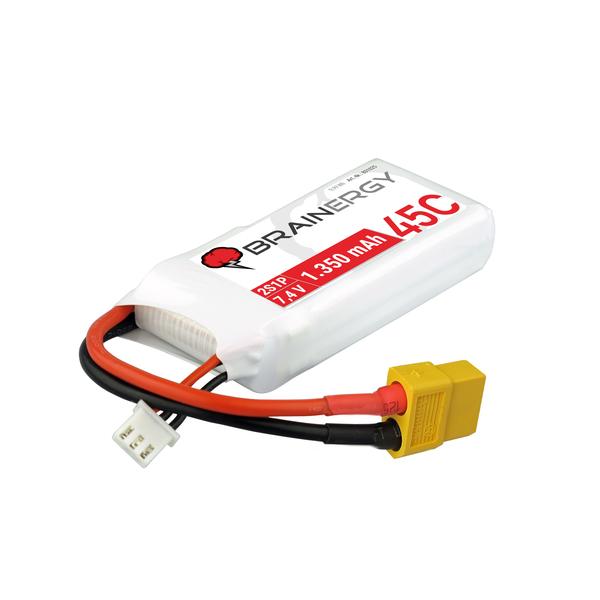 Batería Lipo 2S 1350 mAh 45C Brainergy