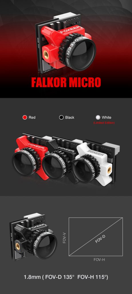 Cámara Foxeer Falkor Micro HS1220 1.8mm
