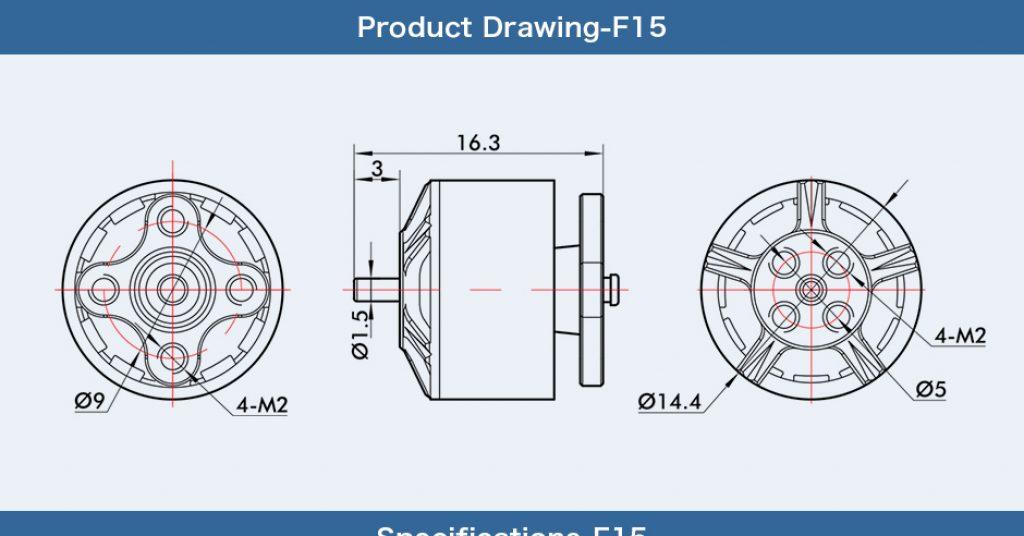 Motor F15 T-Motor 6000Kv