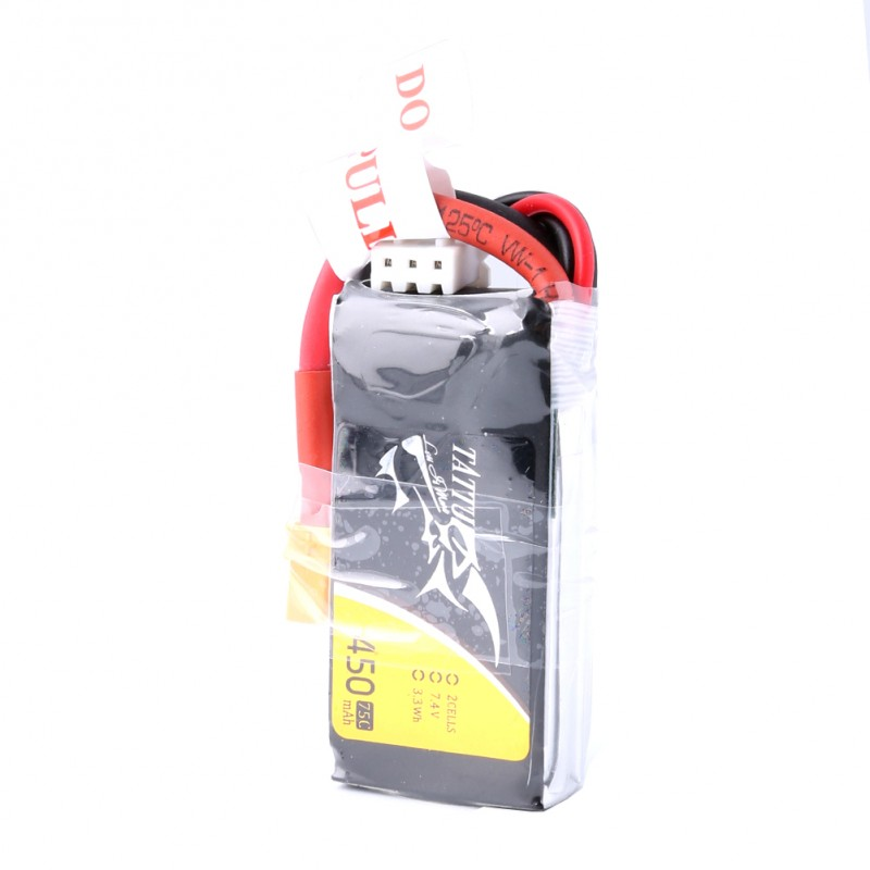 Batería Tattu 450mAh 2S 75C 7.4V con enchufe XT30