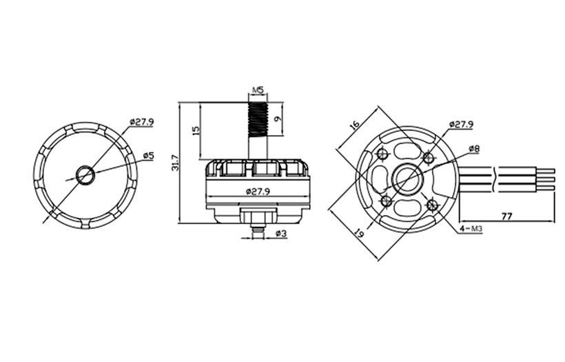 Motores Emax RS2205 2300Kv