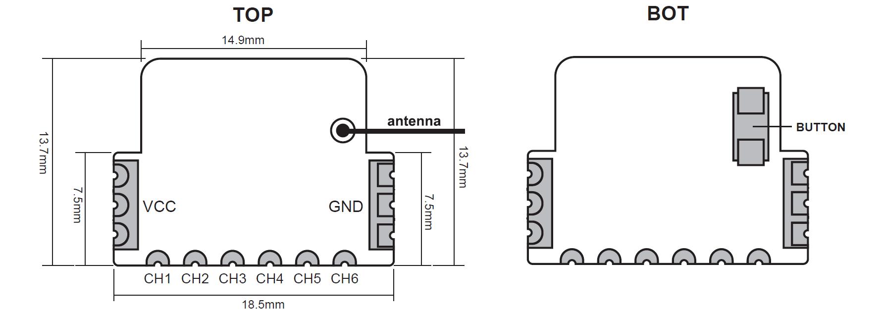 Receptor FrSky XMR Mini 6CH PWM