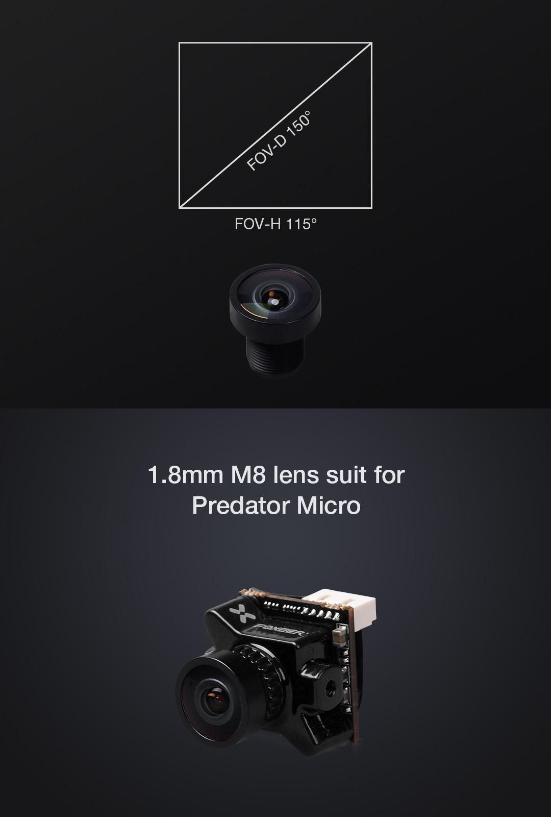 Lente M8 de 1.8 mm para Foxeer Predator / Monster Micro Camera