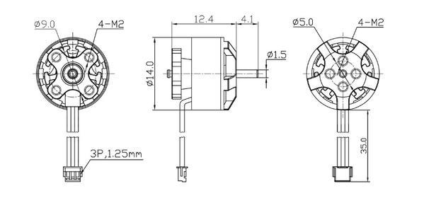 Motores BetaFPV 1105 5000Kv 2S