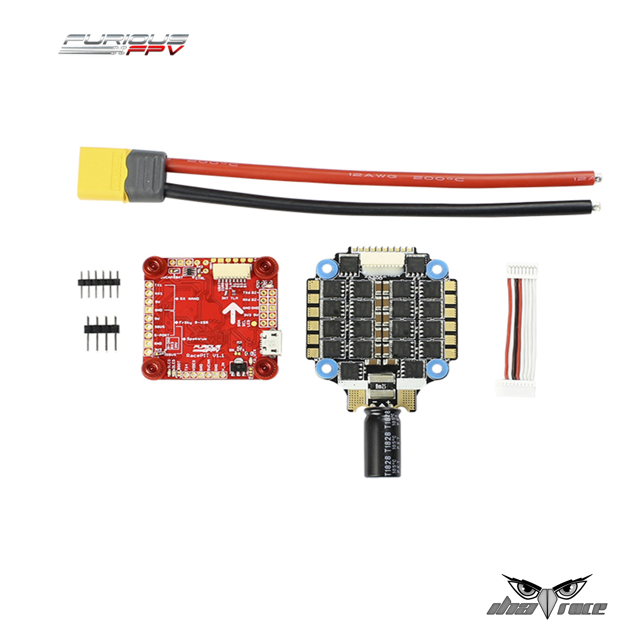Combo Furiuos FPV Racepit + ESC Hobbywing 4-1 60A