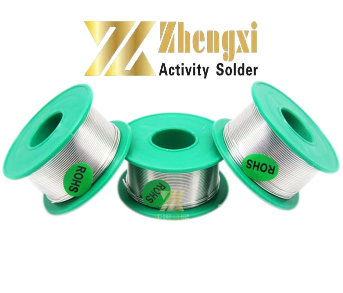 Estaño para soldadura Zhengxi SIN PLOMO (99,3% Sn 0,7% Cu) 0.8mm Flujo de Colofonia 2% (100 gr.)