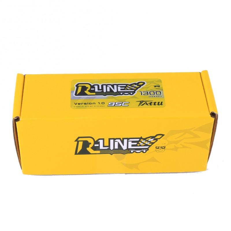 Batería R-line 1300 mAh 14.8V 95C XT-60 4S1P