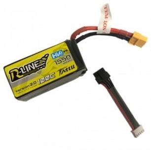 Batería Lipo Tattu R-Line 1550mAh 100C 4S1P 15.2V HV con cable desmontable