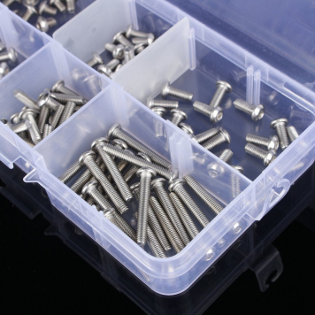 120 piezas M2 Kits de tornillos ISO7380 Cabeza Allen Botón 4/ 6/8/10/12/16mm