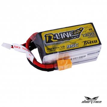 Batería de lipo Tattu R-Line 1300mAh 95C 5S1P con conector XT60
