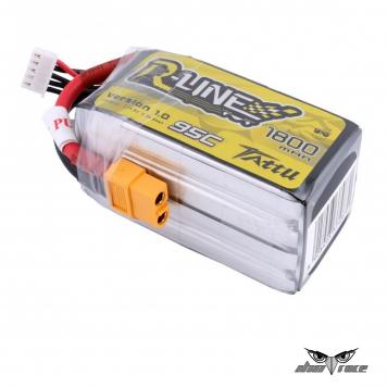Batería Lipo TATTU R-line 1800mAh 14.8V 95C 4S1P con conector XT60