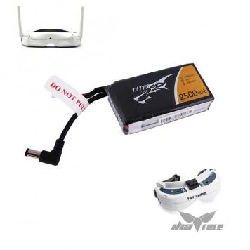 bateria tattu 2s 2500 mah 10c conector dc gafas fatshark oferta